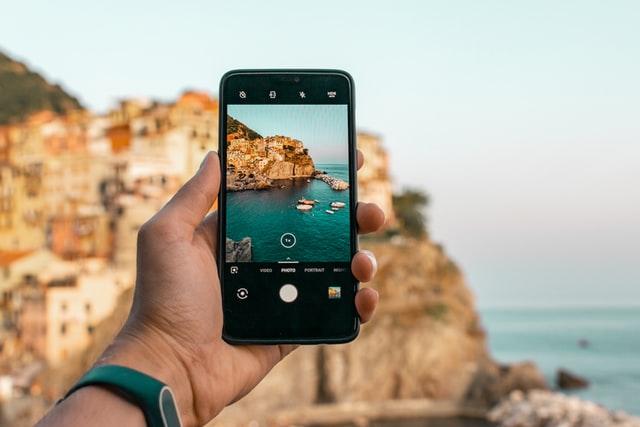 Photographie prise depuis un smartphone Android
