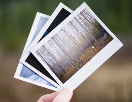Photographies imprimées tenues dans une main gauche