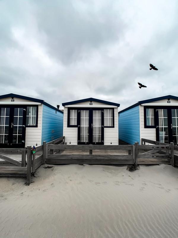 3 mobil homes installés sur la plage