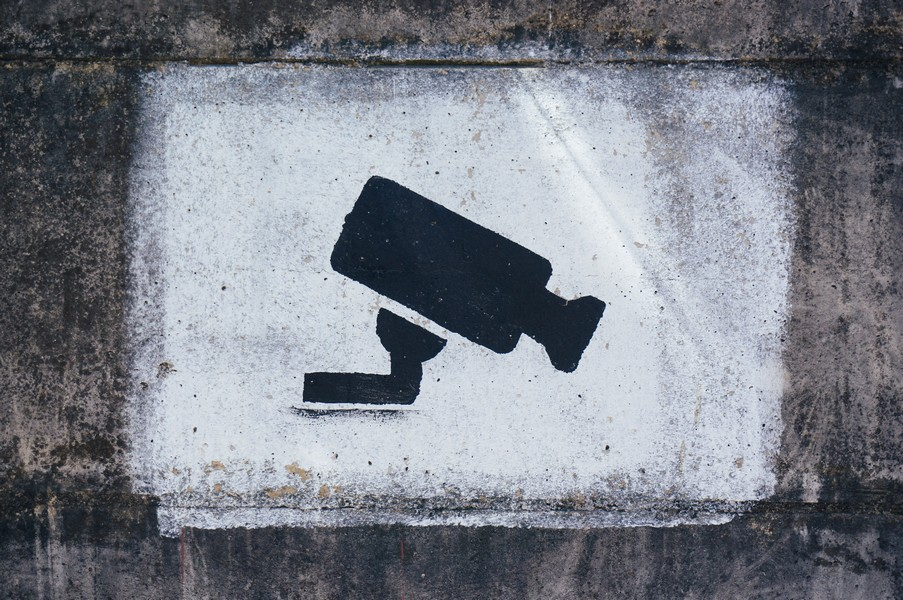 graffiti de caméra de surveillance