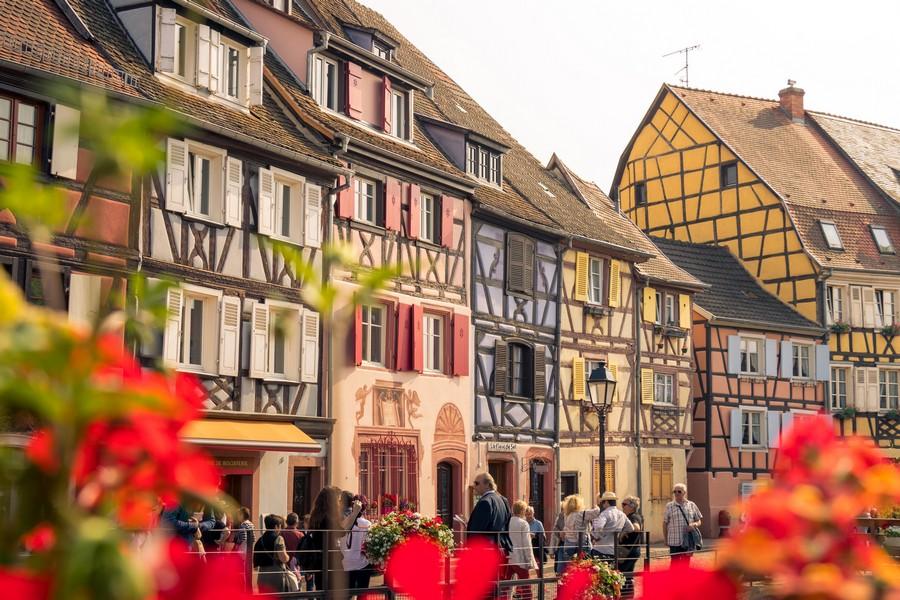 façades de maisons en alsace
